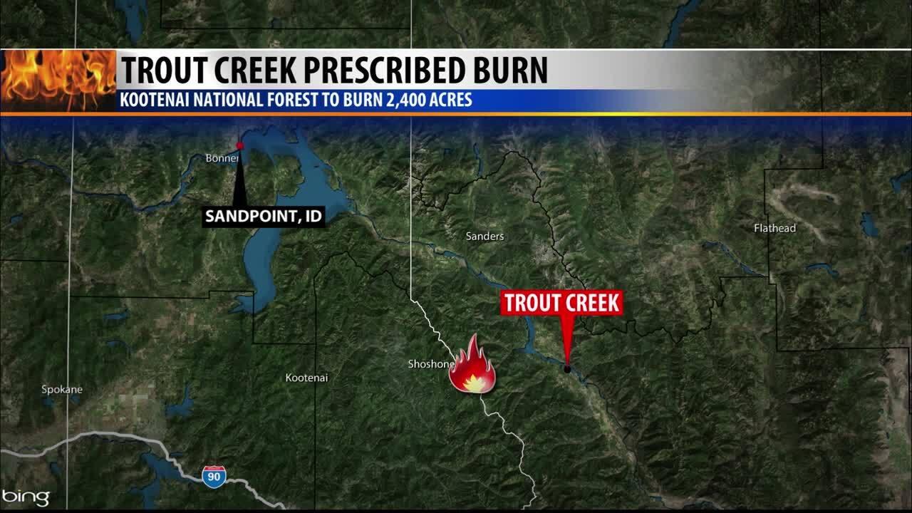 Trout Creek Prescribed Burn Map