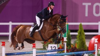 Maher tops individual show jumping qualifying as Americans fall short of final