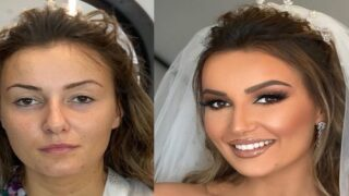 This Makeup Artist Shows Striking Before-and-after Pictures Of Brides On Their Wedding Day
