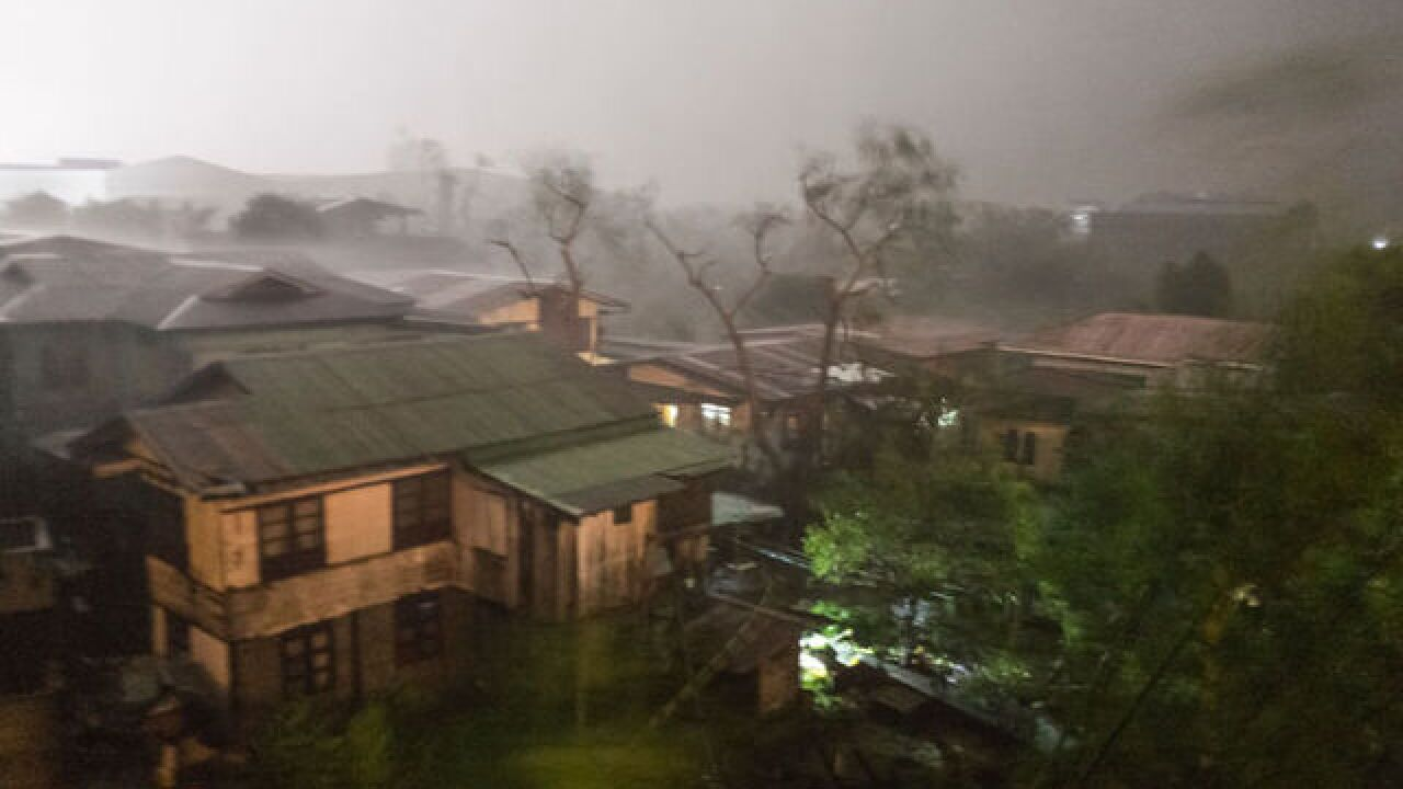 Typhoon Mangkhut slams Philippines, kills at least two people