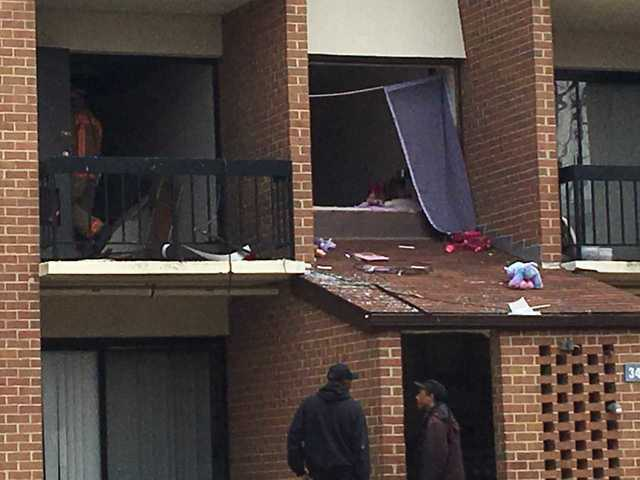 Explosion reported inside apartment building