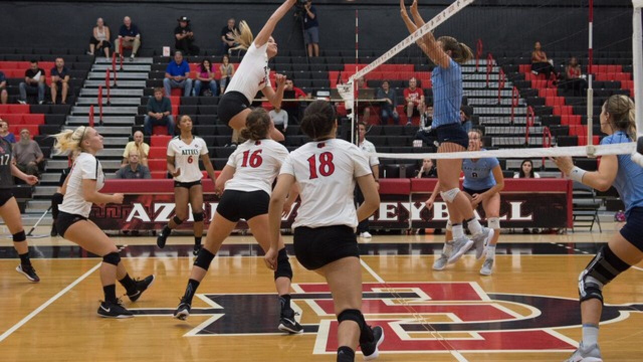 SDSU volleyball pulls off three-set sweep over crosstown rival USD