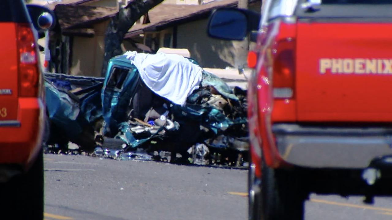KNXV Phoenix fire truck crash