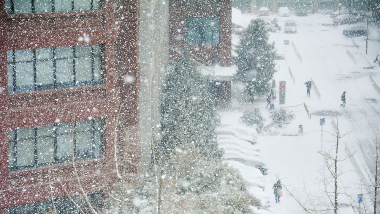 File image of snow-covered streets.