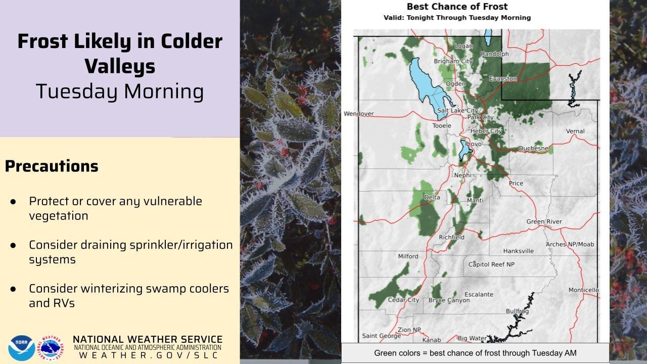 Freeze Warnings Utah Sept. 20