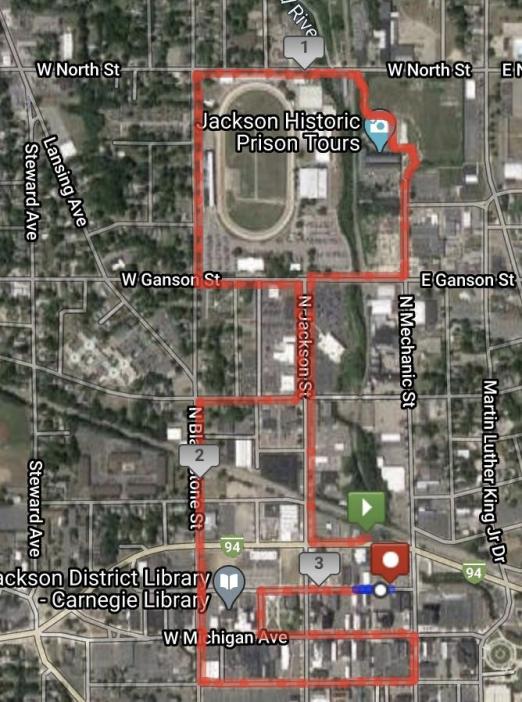 5K run for fun map
