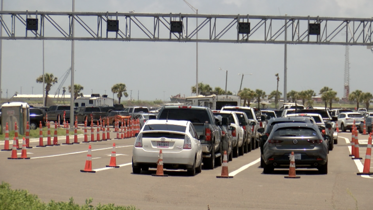 Port A Ferry Stacking Lanes