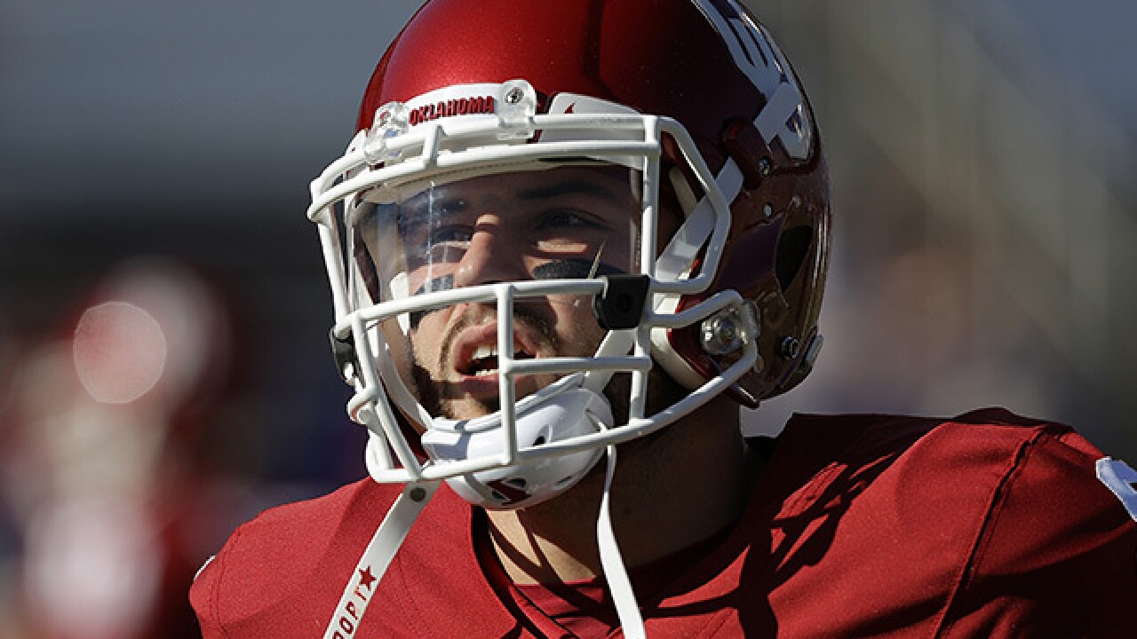 Oklahoma's Mayfield apologizes for flag incident at Ohio St.