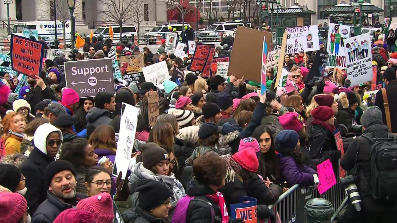 Women's Unity Rally at Foley Square