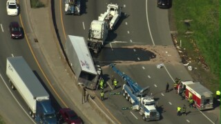 Rollover crash I-90