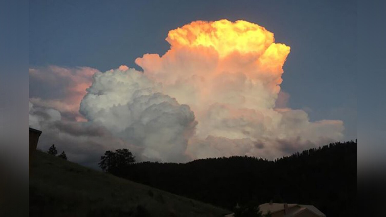 Sunset and storms in Westcliffe