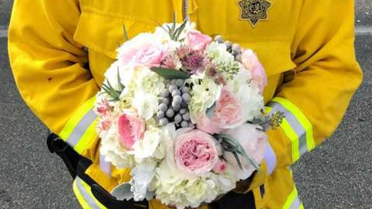 Florist delivers hope during Lilac Fire