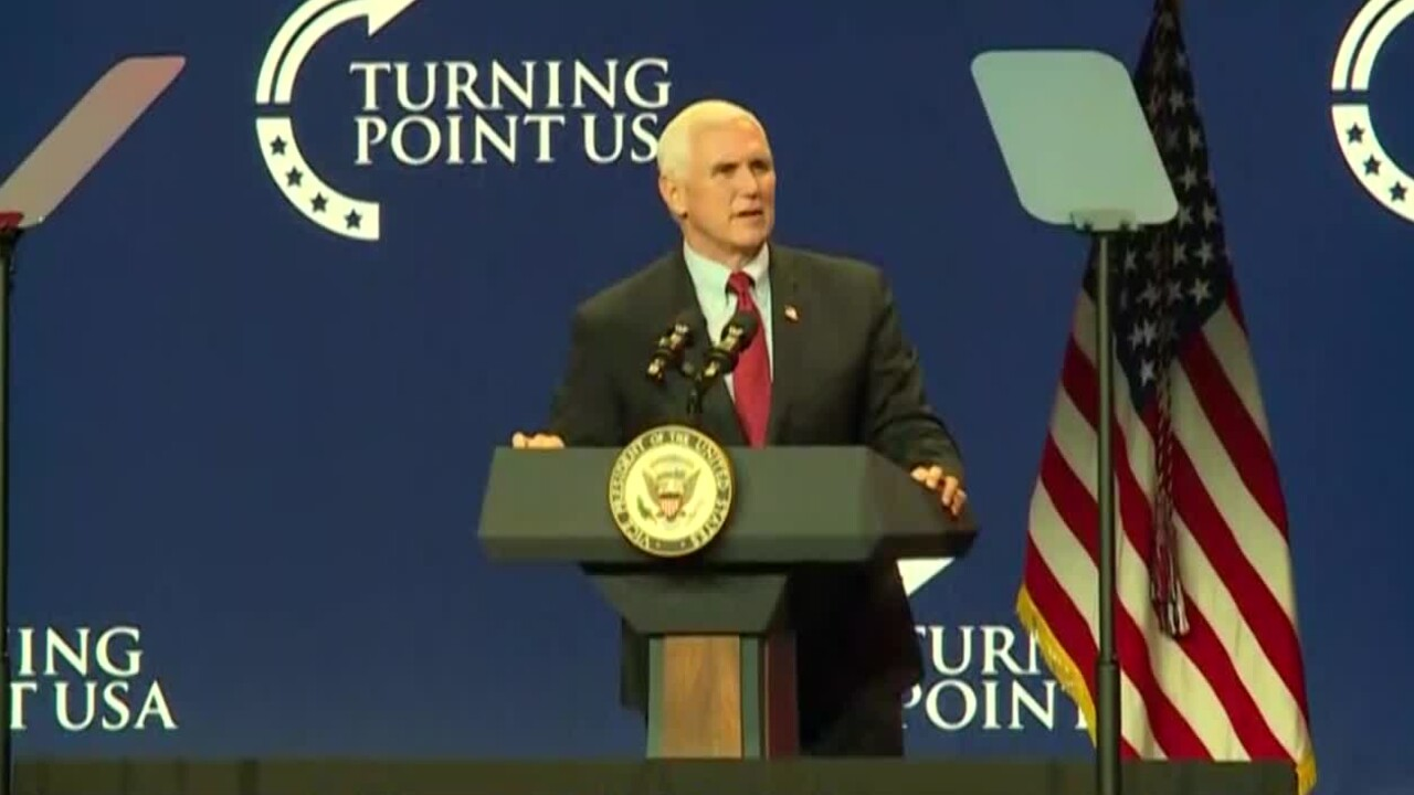 Vice President Mike Pence speaks at Turning Point USA conference in West Palm Beach