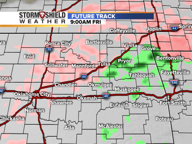 Timeline of winter weather with freezing rain, ice in Tulsa and northeast Oklahoma
