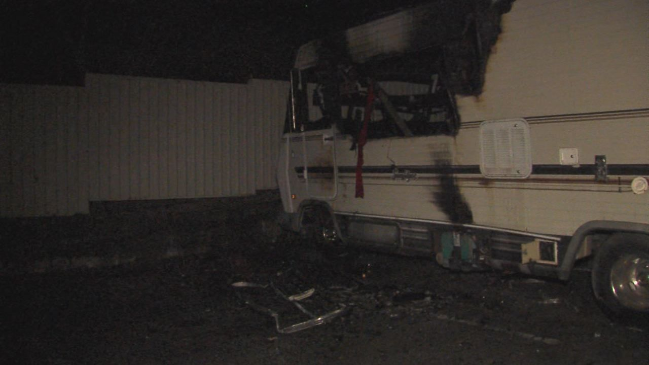No injuries reported after RV fire