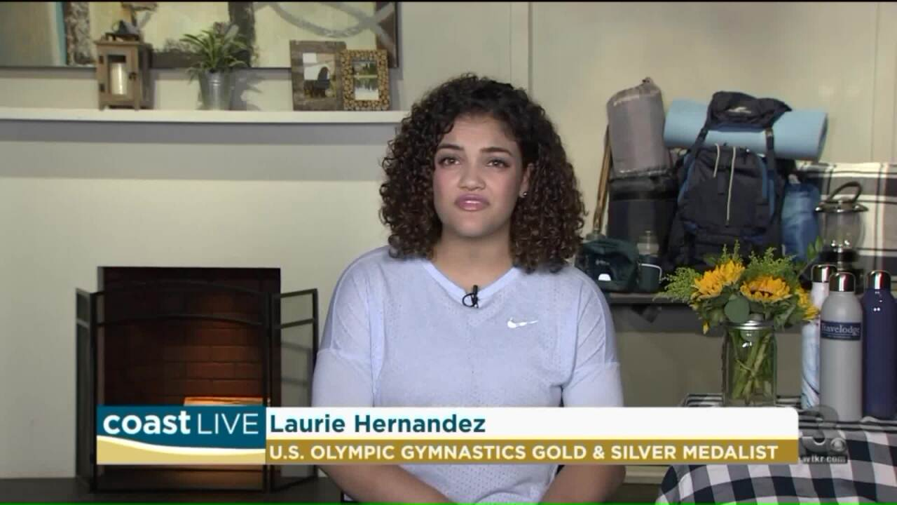 Learning about National Park preservation with gymnast Laurie Hernandez on Coast Live