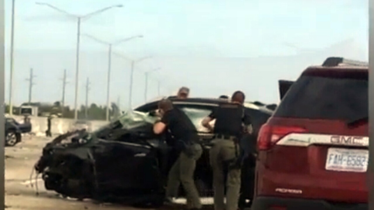 Exclusive video shows PBSO deputies taking down suspect on I-95