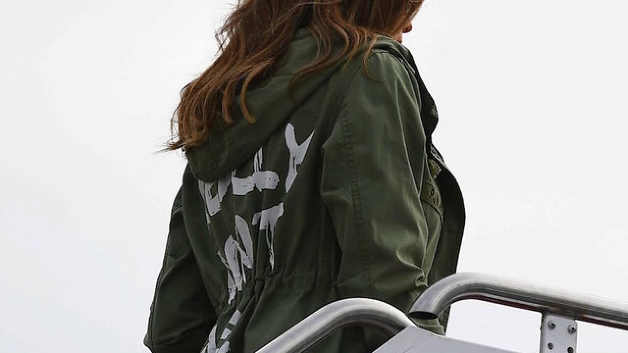 Melania Trump dons jacket saying 'I really don't care. Do U?' ahead of border visit