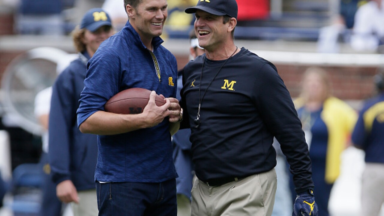 Jim Harbaugh still wants Tom Brady to get a statue at Michigan