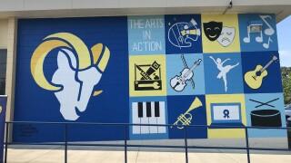 Raa Middle School unveils mural
