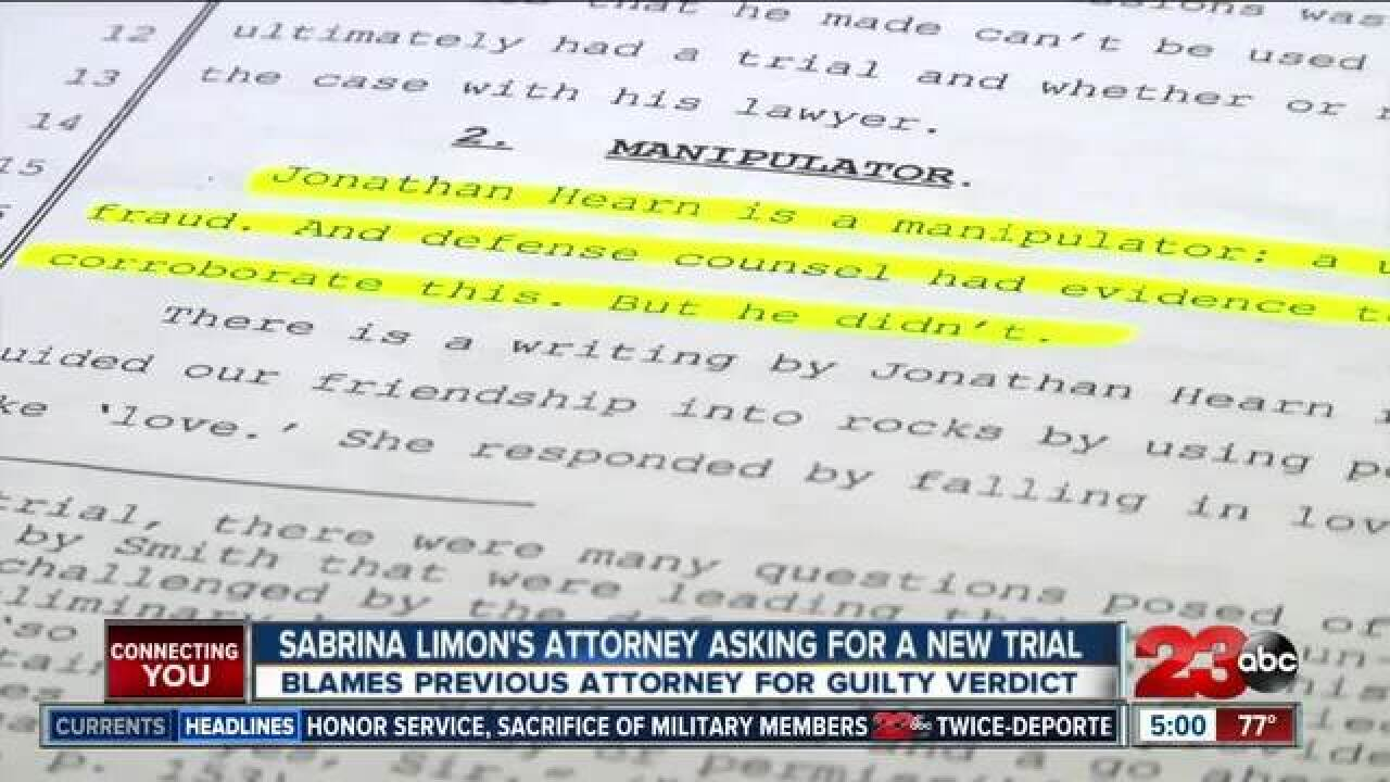 Limon's attorney files motion for new trial