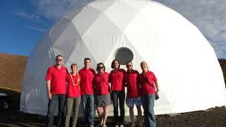 Could you live in the Mars dome for 8 months?