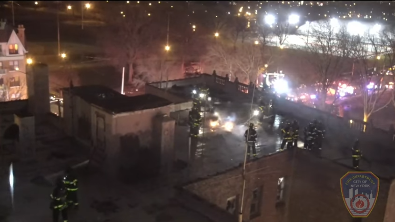 FDNY uses drone for first time to battle Bronx fire