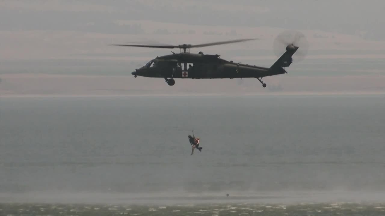 Montana Army National Guard conducts open water training at Canyon Ferry Lake