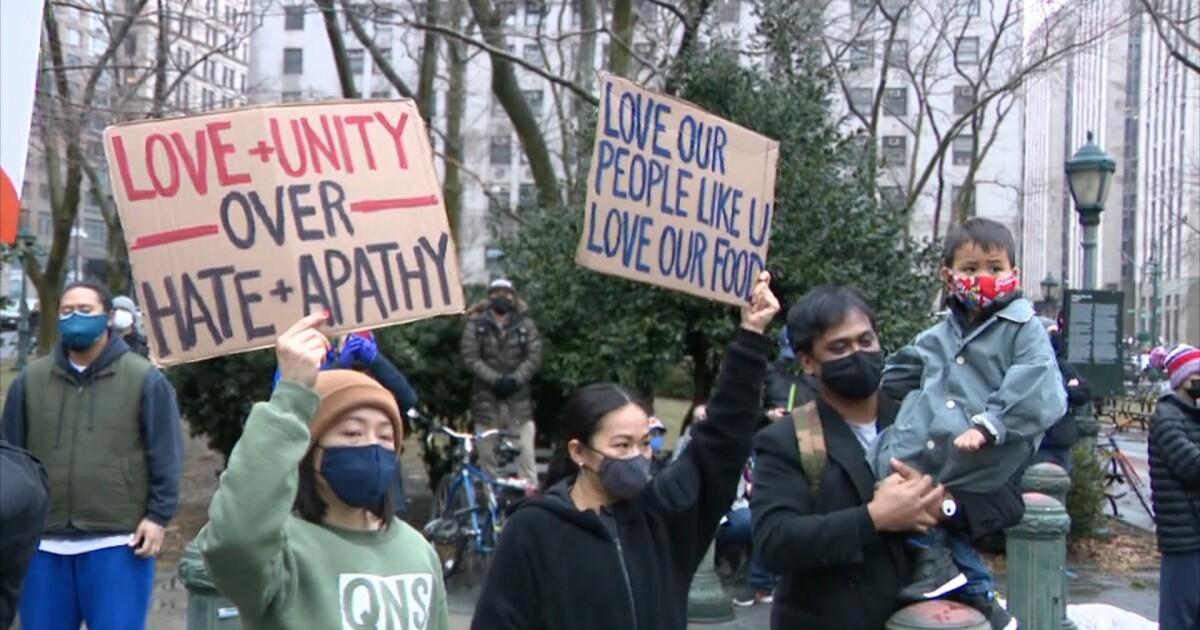 Rally against anti-Asian bigotry in Manhattan