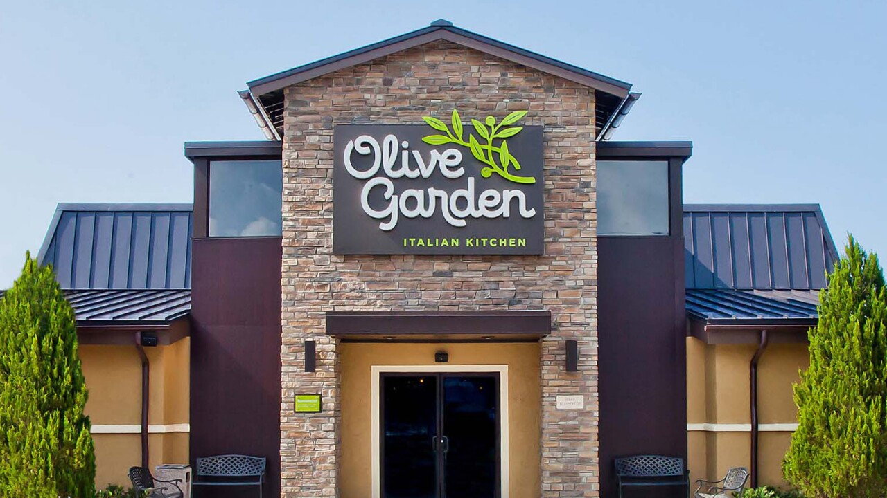 Olive Garden's buy one, take one program is now available for pickup and delivery