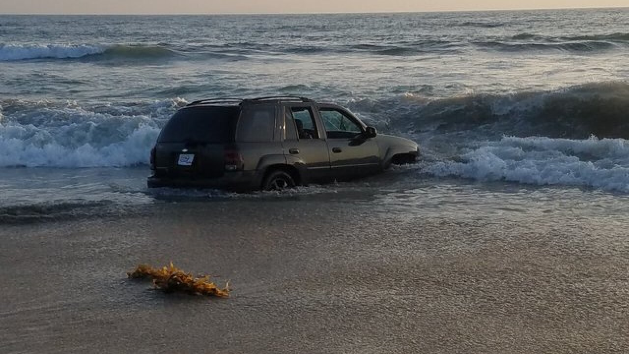 Calif. DUI suspect drove onto beach