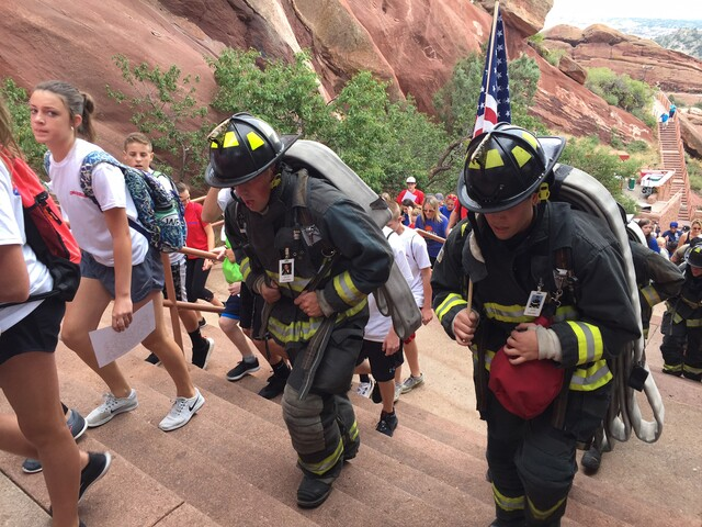 GALLERY: Thousands climb steps at Red Rocks Amphitheatre for Sept. 11 memorial event