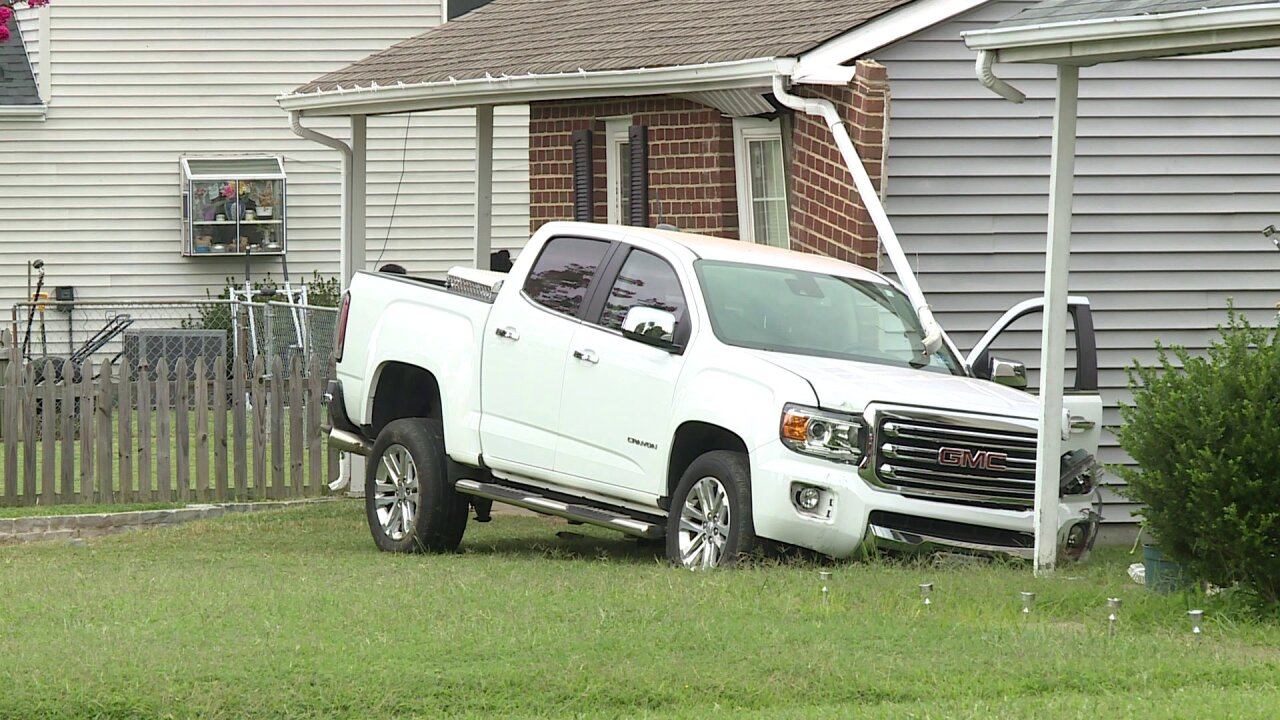 Driver cited after slamming truck in Richmondhome
