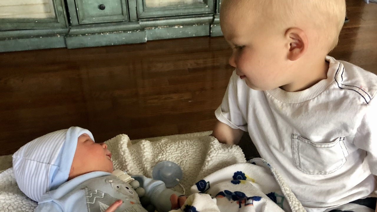 Brie and Baby Three welcome home