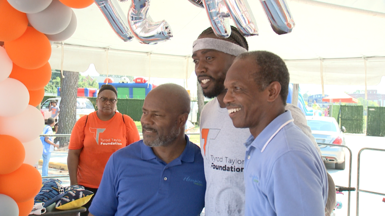 NFL quarterback Tyrod Taylor hosts second annual Community Day in Hampton