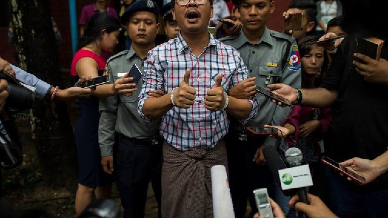 Myanmar: Reuters journalists investigating Rohingya killings sentenced to 7 years in prison