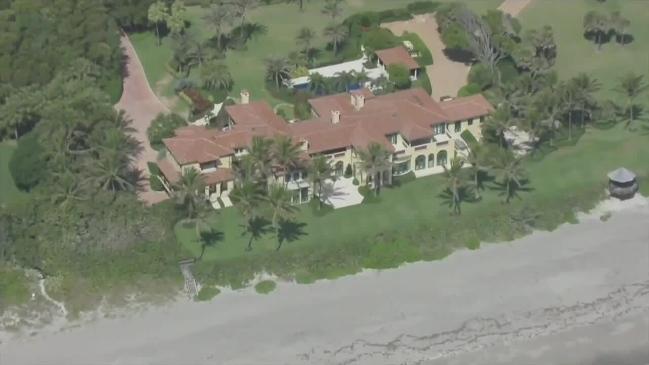 Larry Ellison's North Palm Beach mansion, April 9, 2021