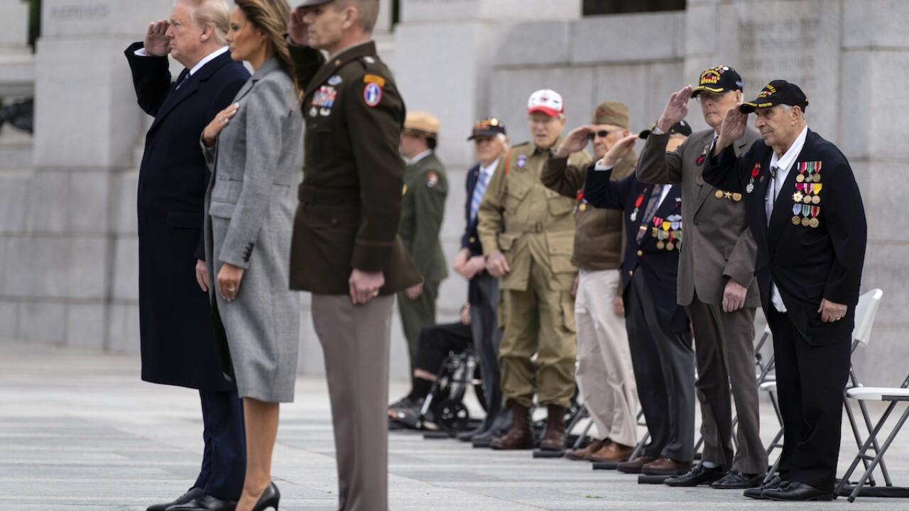 Trump joins World War II veterans at V-E Day ceremony