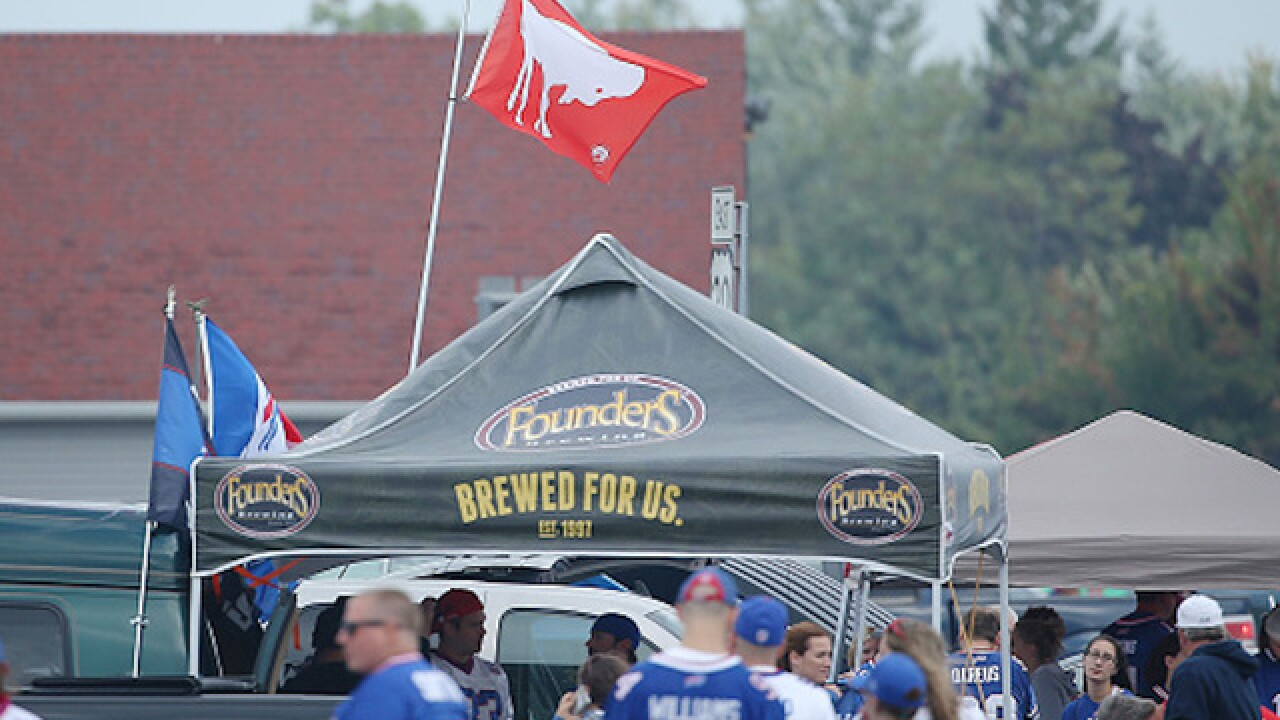 Buffalo Bills fans just can't stop pile-driving tables