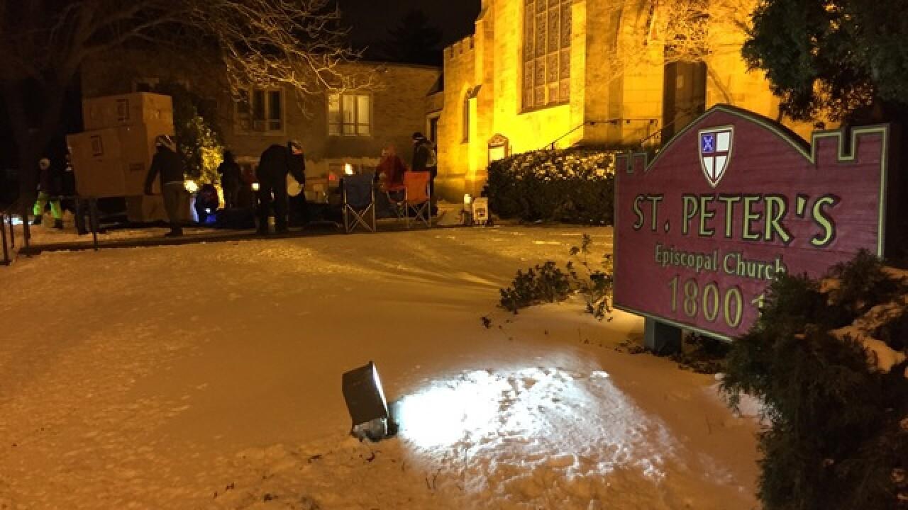 Despite cold, kids sleep outside to raise money