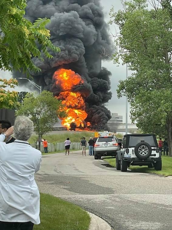 Tanker fire I-75