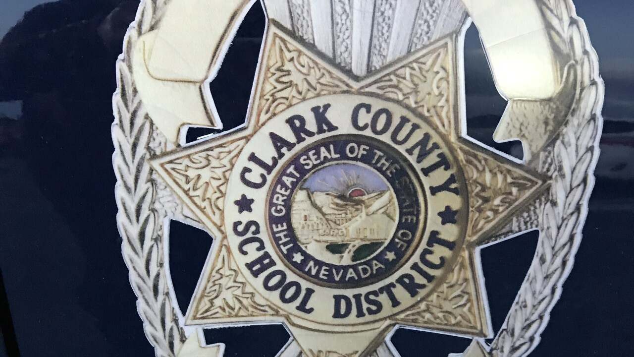 Clark County School District Police cross line at golf event