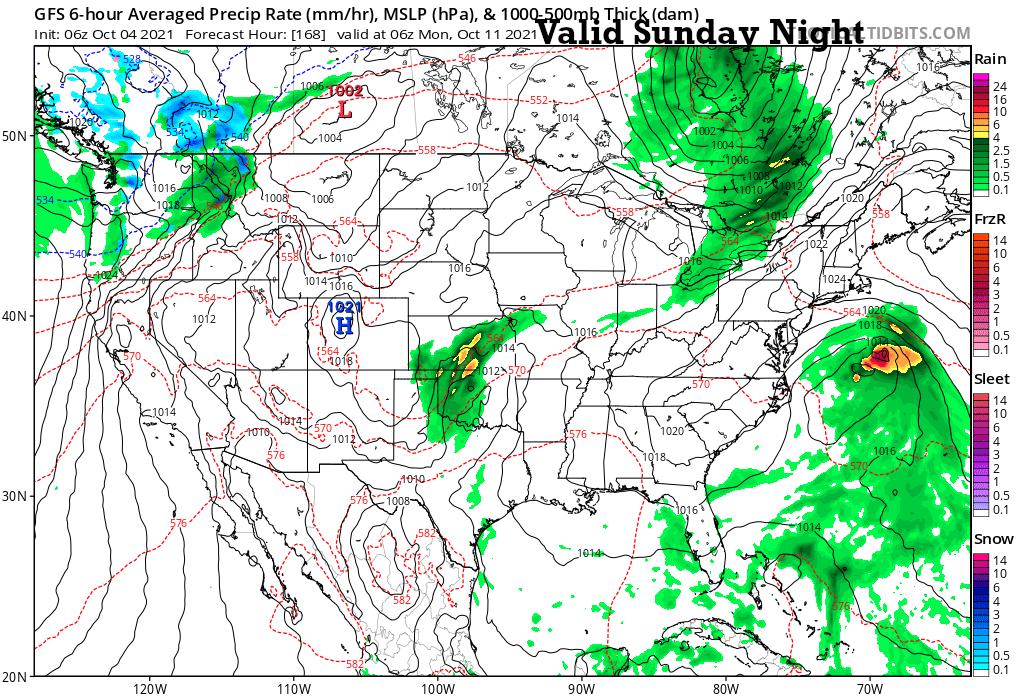 1 AM Monday Surface Forecast