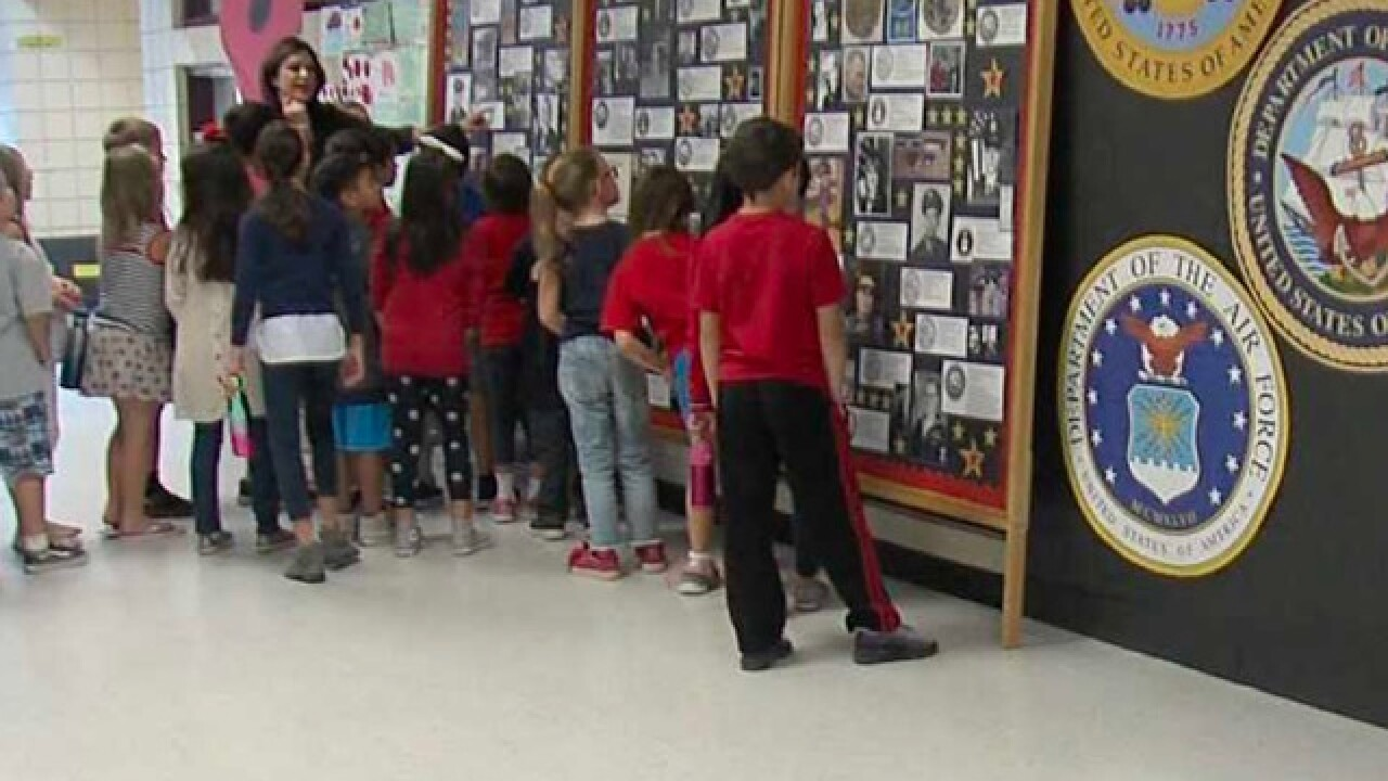 Gilbert teacher teaches importance of Vets Day