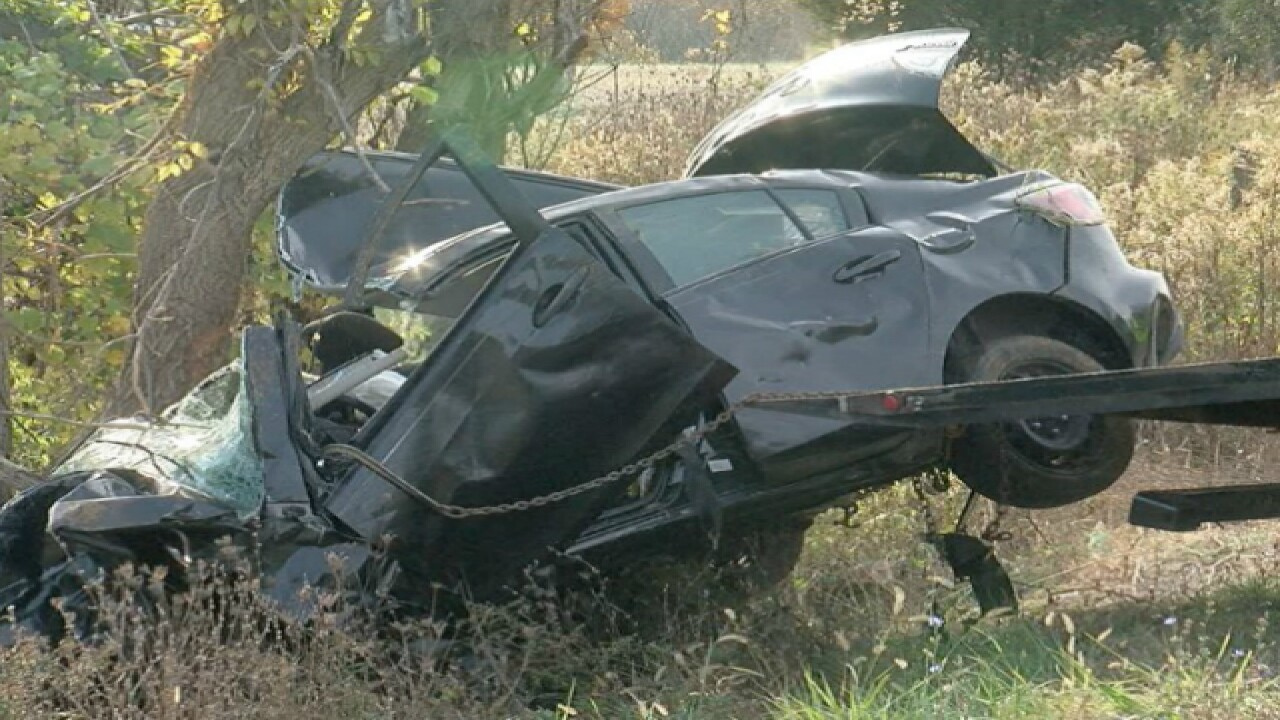 Driver hospitalized after being trapped in flipped car for 2 days