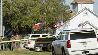 Texas church turned into a memorial after mass shooting