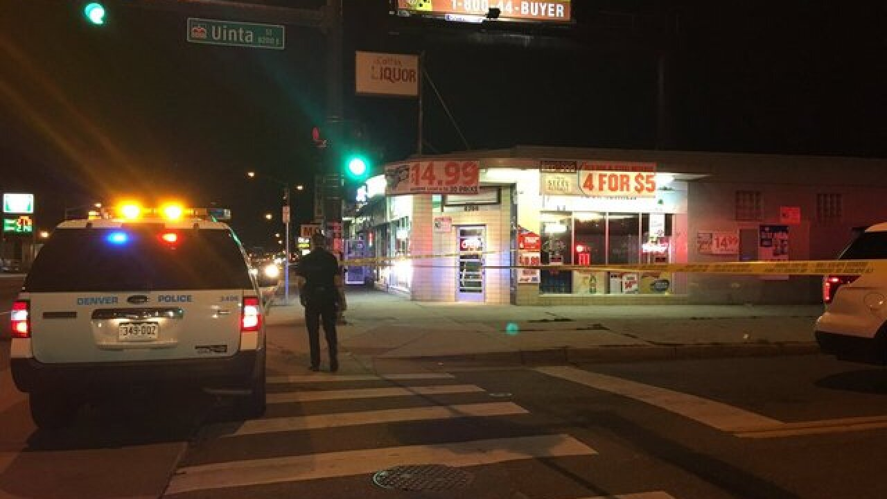 One man shot in leg in front of E. Colfax liquor store