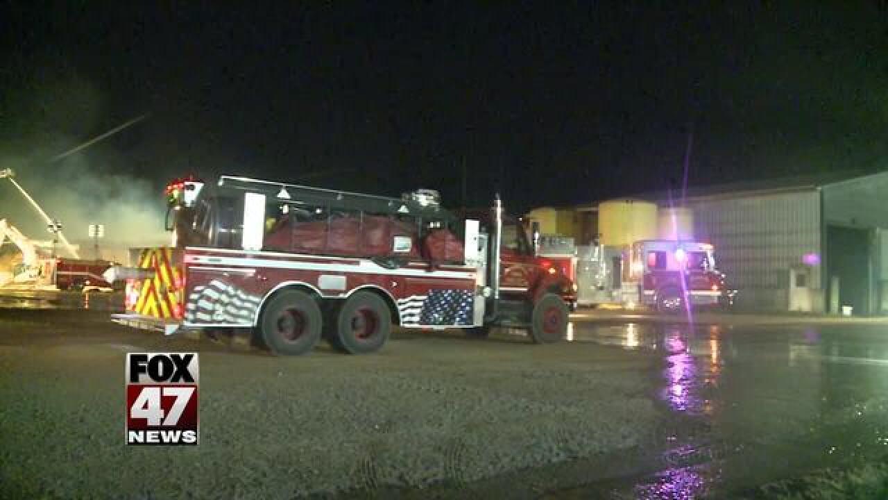 Fire destroys barn