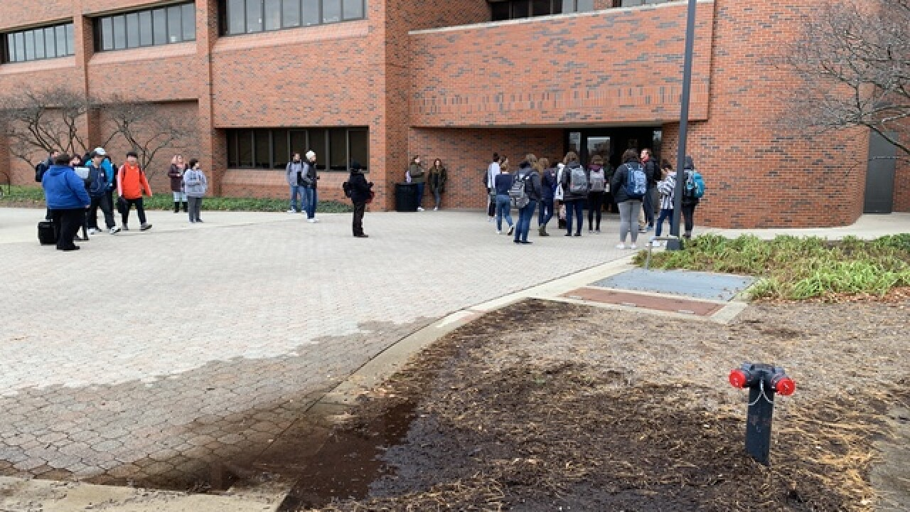 Ball State building evacuated for water leak