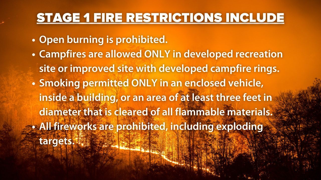 State One Fire Restrictions